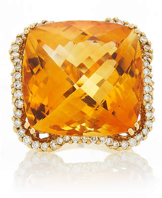 Moira Fine Jewellery Citrine With Diamonds Ring