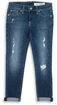 AG Adriano Goldschmied kids Girl's The Jenna Distressed Skinny Jeans