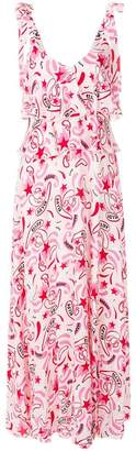 Dondup printed tiered sleeveless maxi dress