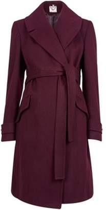 Dorothy Perkins Womens **Maternity Berry Belted Wrap Coat