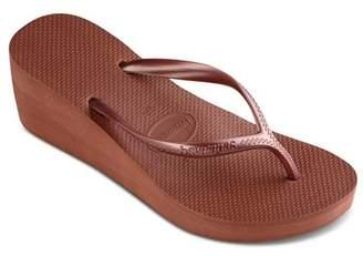 6fe963a9b775 Havaianas Platform Wedge Flip-Flops - High Fashion