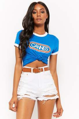 Forever 21 Cannes Graphic Ringer Tee