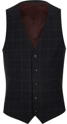 River Island Mens Big and Tall blue single-breasted vest