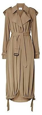 Burberry Women's Cyla Jersey Trench Drawstring Hem Coat