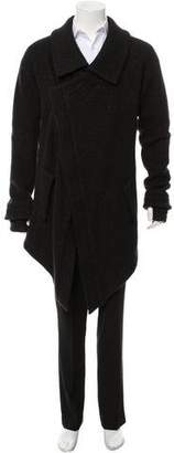 Boris Bidjan Saberi Asymmetrical Wool Jacket