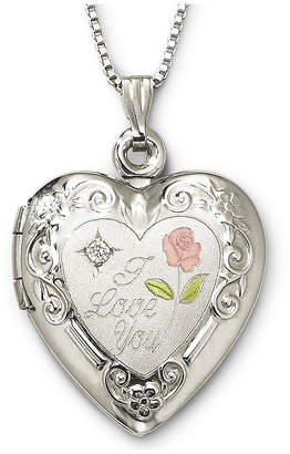 JCPenney FINE JEWELRY I Love You Sterling Silver Heart Locket Pendant Necklace