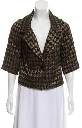 Reem Acra Metallic Woven Blazer