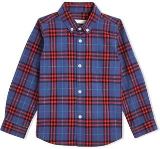 Burberry Button-down Collar Check Flannel Shirt
