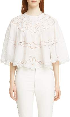 Isabel Marant Marlo Broderie Anglaise Blouse