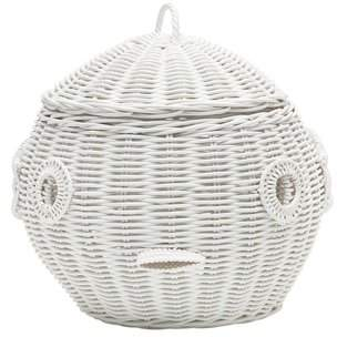 Bungalow Rose Puffer Fish Wicker Storage Basket