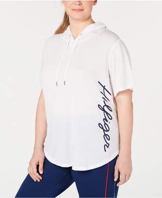 Tommy Hilfiger Plus Size Hoodie Logo T-Shirt