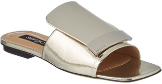 Sergio Rossi Sr1 Metallic Leather Sandal