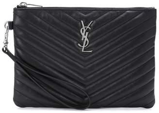 Saint Laurent Monogram leather pouch