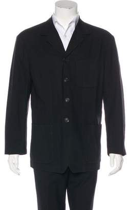 Issey Miyake Wool Button-Up Jacket