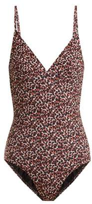 Matteau - The Plunge Swimsuit - Womens - Brown Print