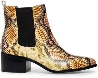 Design Lab Cayla Snakeskin-Print Chelsea Boot