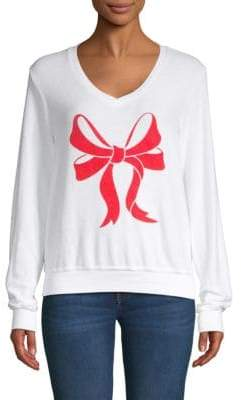 Wildfox Couture Bow Printed Sweater