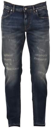 Dolce & Gabbana Stone-washed Slim-fit Jean