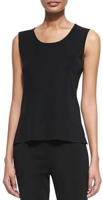 Misook Scoop-Neck Layering Tank, Black