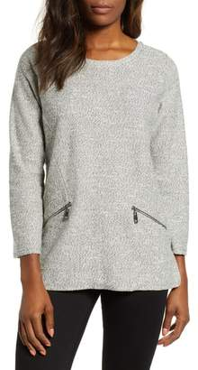 Chaus Marled Knit Slub Sweater