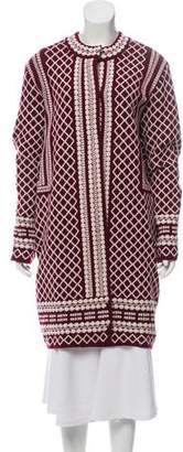 Tory Burch Longline Wool Cardigan