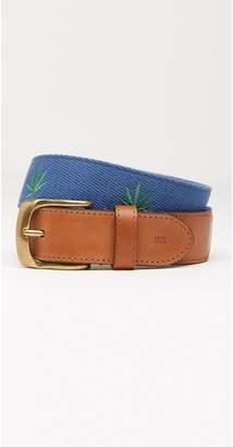J.Mclaughlin Ashton Embroidered Belt in Marijuana Leaf