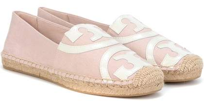 Tory Burch Poppy leather-trimmed espadrille