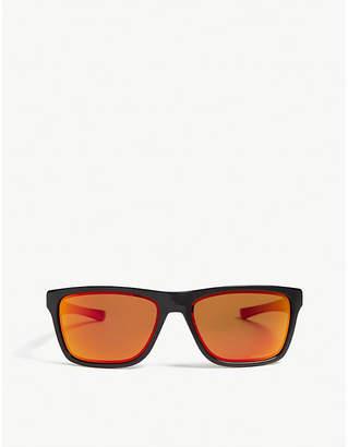 Oakley Mens Black Modern Holston Square-Frame Sunglasses
