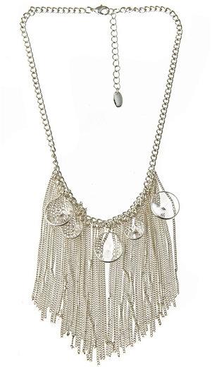 Dereon Crystallized Fringe Bib Necklace