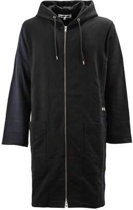Alexander McQueen Black Cotton Hoodie Long Sweatshirt.