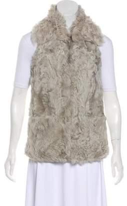 Diane von Furstenberg Bianca Curly Fur Vest