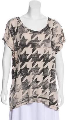 Current/Elliott Printed Scoop Neck T-Shirt