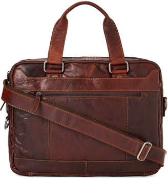 Jack Georges Brown Voyager Large Double Gusset Top Zip Briefcase