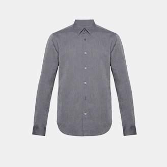 Theory Essential Linen Hidden-Button Collar Shirt