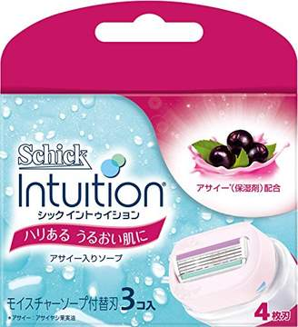 Schick シック イントゥイション 替刃 女性用 カミソリ ハリある うるおい肌に (3コ入)