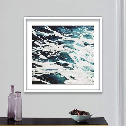 Framed Print - Stormy Sea