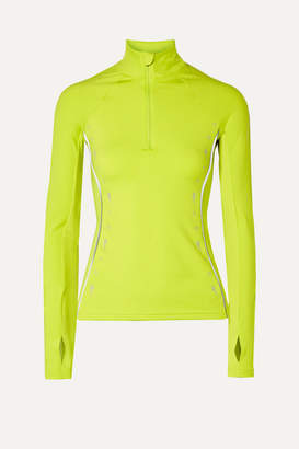 Reebok x Victoria Beckham Neon Mesh-trimmed Stretch Jacket - Lime green