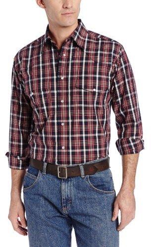 Wrangler Men's Wrinkle Resist Western Shirt