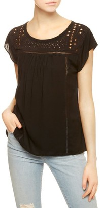 Women's Sanctuary Paige Eyelet Embroidered Tee $79 thestylecure.com