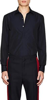 Lanvin Men's Cotton Poplin Dress Shirt - Navy