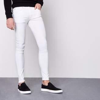 River Island White Ollie super skinny spray on jeans