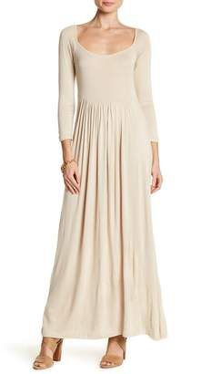 24\u002F7 Comfort Empire Waist Long Sleeve Maxi Dress (Plus Size Available)