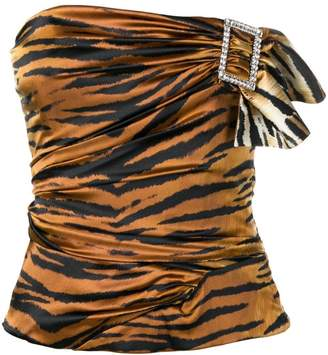 Alexandre Vauthier tiger print top