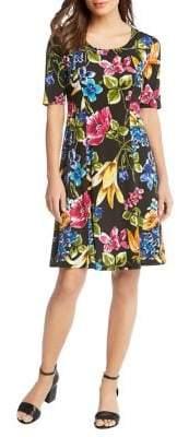Karen Kane Botanica Print A-Line Dress