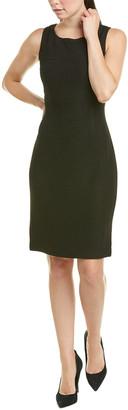 St. John Wool-Blend Sheath Dress