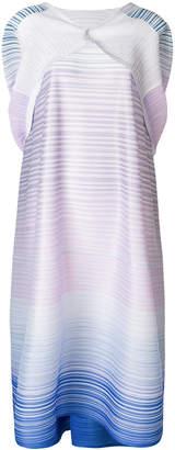 Pleats Please Issey Miyake thin striped dress