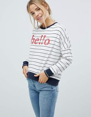 Only Sunny Batwing Print Sweatshirt