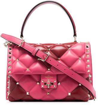 Valentino pink Garavani Candystud quilted-leather shoulder bag