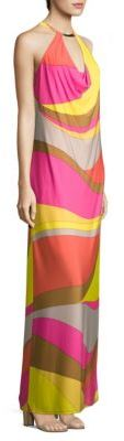 Trina Turk Multicolored Halter Dress $328 thestylecure.com