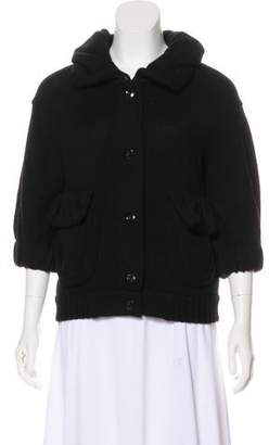 Marc by Marc Jacobs Pointed Collar Wool Cardigan